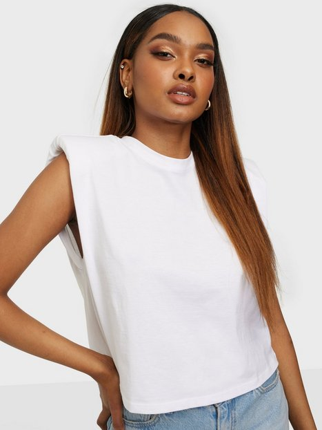 Only Onljen Life S/L Shoulderpad Top Jrs Toppe Bright White