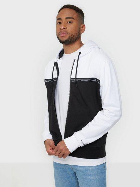 Calvin Klein Logo Stripe Zip-Through Hoodie Trøjer Multi