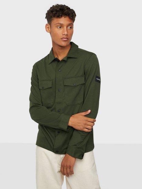 Calvin Klein Comfort Knit Shirt Skjorter Green