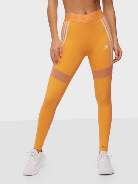 Adidas Sport Performance Mesh Tight W Träningstights Orange