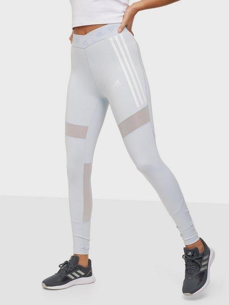 Adidas Sport Performance Mesh Tight W Träningstights Light Blue