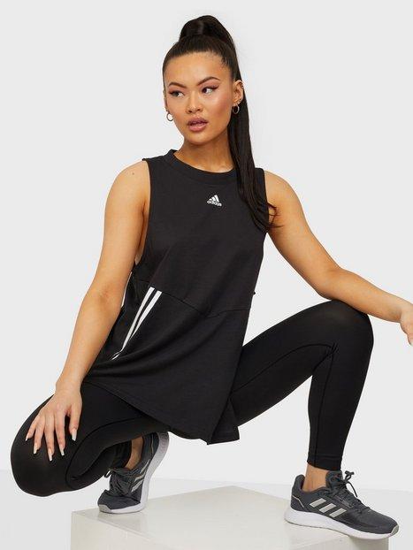 Adidas Sport Performance Oversized Tank Linne Loose Fit Black/White