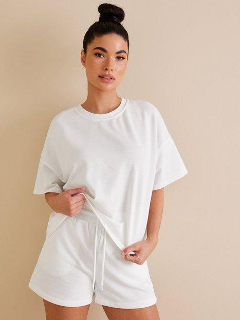 Pieces Pcchilli Summer 2/4 Loose Sweat D2D T-shirts Bright White