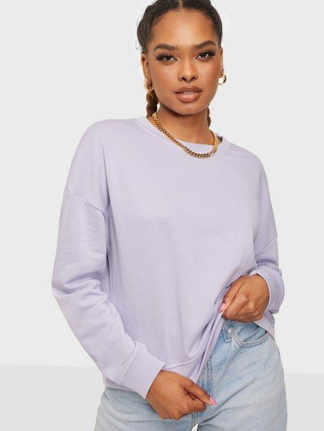 Pieces Pcchilli Summer Ls Sweat D2D Sweatshirts Purple Heather