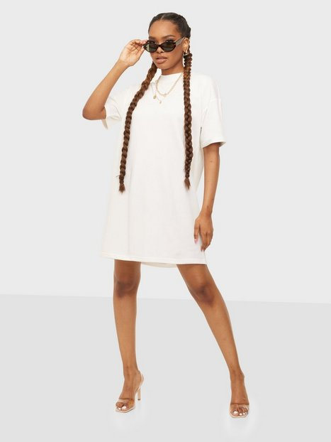 Pieces Pcchilli Summer 2/4 Sweat Dress D2D Loose fit dresses Bright White