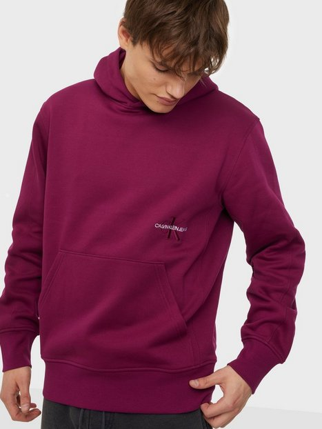 Calvin Klein Jeans Off Placed Iconic Hoodie Trøjer Purple