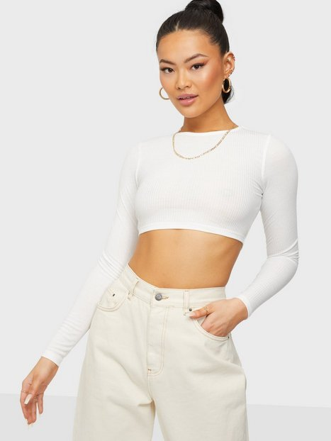 NLY Trend Forever Crop Rib Top Toppe Hvid