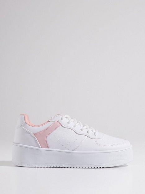 NLY Shoes Edition Platform Sneaker Sneakers Hvid/Lyserød