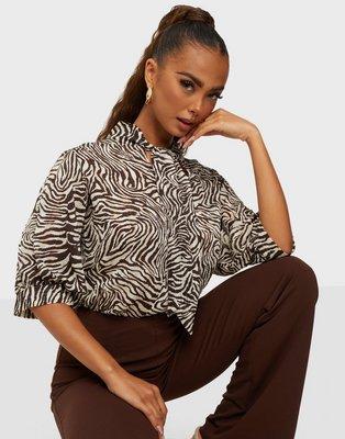Samsøe Samsøe Dorothe ss blouse aop 14018 Knytblusar