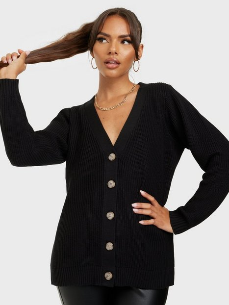 Selected Femme Slfemmy Ls Knit Button Cardigan B Cardigans Black