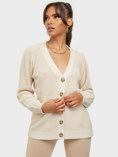 Selected Femme Slfemmy Ls Knit Button Cardigan B Cardigans Sandshell