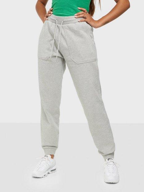 Selected Femme Slfstasie Mw Sweat Pant Noos Bukser & shorts Light Grey Melange