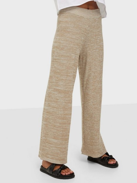 Selected Femme Slfsun Mw Crop Knit Pant B Bukser