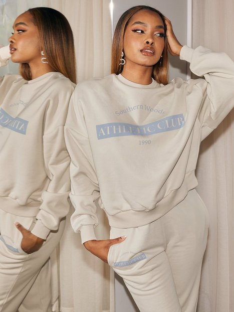 NLY Trend Print Chunky Sweat Sweatshirts Creme