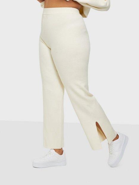 Bianca x Nelly.com Cozy Knit Pants Joggingbukser Creme