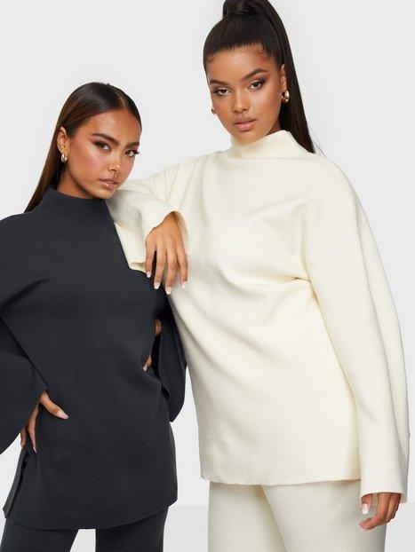 Bianca x Nelly.com Cozy knit sweater Strikkede trøjer Mørkegrå