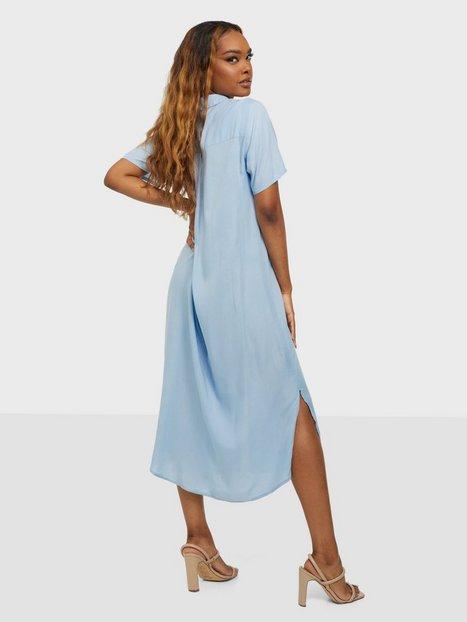 Pieces Pccamila Ss Midi Shirt Dress D2D Bc Loose fit dresses