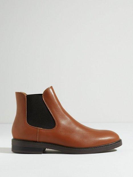 Selected Homme Slhblake Leather Chelsea Boot B Noo Støvler Cognac