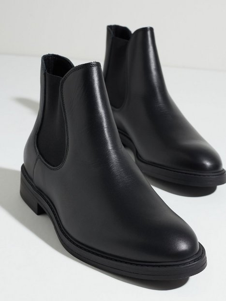Selected Homme Slhblake Leather Chelsea Boot B Noo Støvler Black