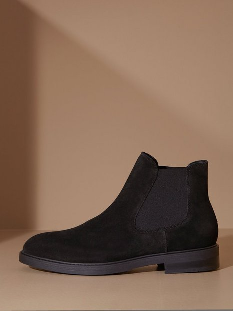 Selected Homme Slhblake Suede Chelsea Boot B Noos Chelsea boots Black