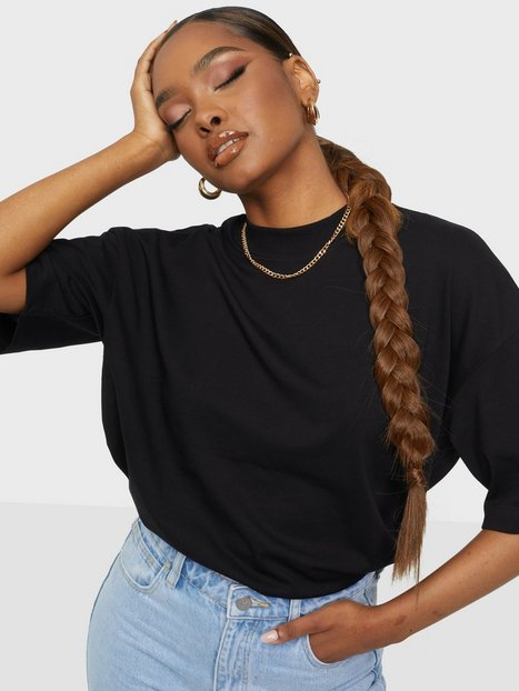 Selected Femme Slfrelaxcole 2/4 High Neck Tee W T-shirts Black