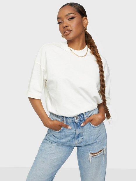 Selected Femme Slfrelaxcole 2/4 High Neck Tee W T-shirts Egret