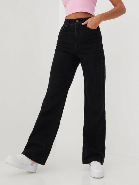 Only Onlcamille Life Ex Hw Wide Dnm Wide leg jeans Black Denim Nas259
