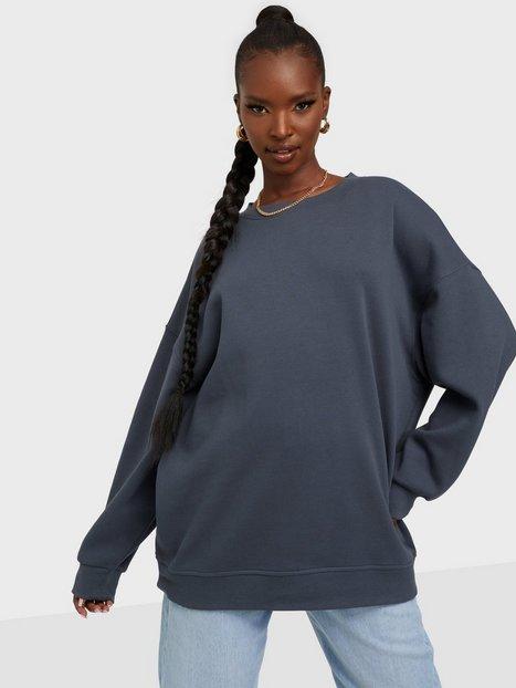 Se Pieces Pcchilli Ls Oversized Sweat D2D Sweatshirts Ombre Blue ved Nelly