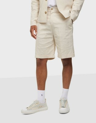 Selected Homme Slhloose Martin Linen Shorts Shorts Bone White