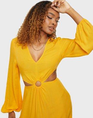 NLY Trend Ring Detail Dress Langærmede kjoler