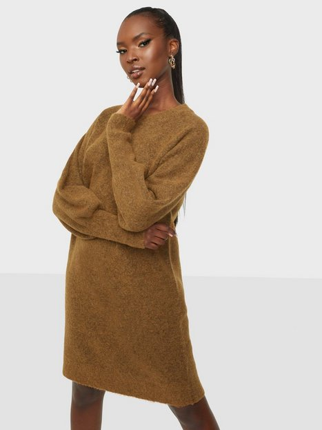 Selected Femme Slfsif Kaya Ls Knit Dress O-Neck B Strikkjoler