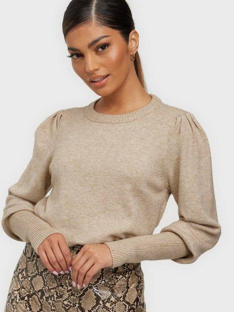 Vila Viril O-Neck L/S Femme Knit Top - N Strikkede trøjer