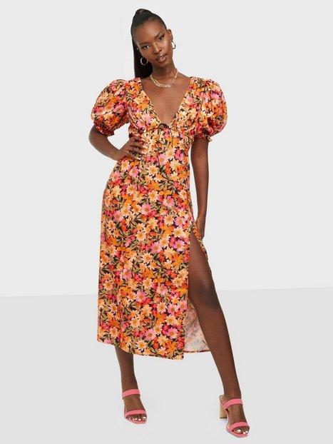 For Love & Lemons Laureen Midi Dress Tætsiddende kjoler