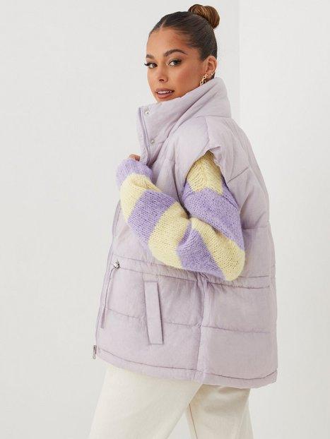 Only Onlsydney Puffer Waistcoat Otw Veste Lavender Blue