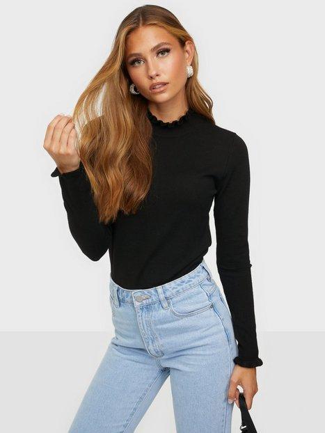 Pieces Pcelira Ls High Neck Knit Bc Strikkede trøjer Black