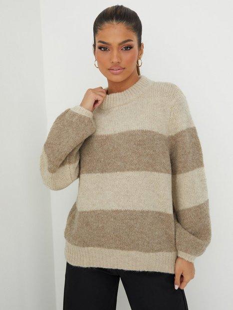 Pieces Pcfania Ls O-Neck Wool Knit Strikkede trøjer