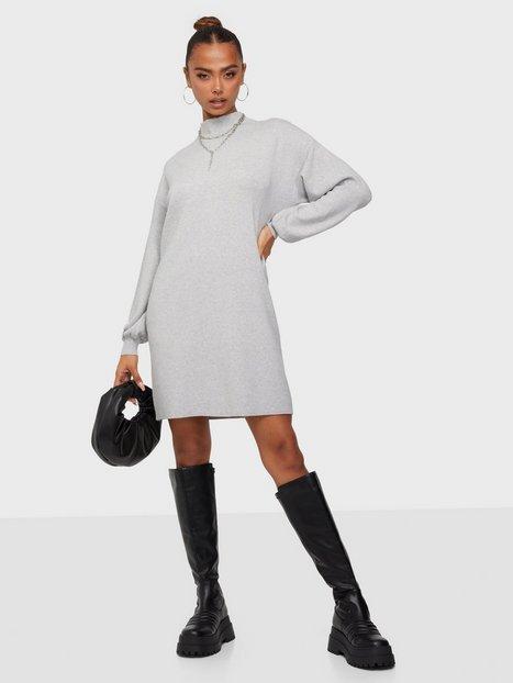 Vero Moda Vmnancy Ls Funnelneck Dress Ga Boo Langærmede kjoler Light Grey Melange