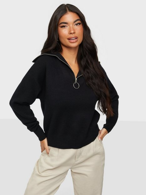 Vero Moda Vmsaba L/S Highneck Blouse Ga Strikkede trøjer Black