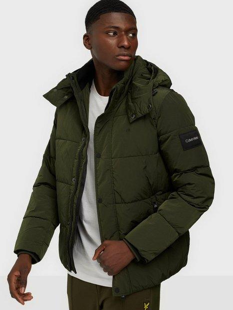 Calvin Klein Crinkle Nylon Mid Length Jacket Jakker & frakker Olive