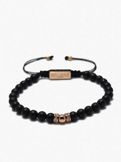 Von Lukacs Milano Onyx Black Rose Gold Smykker Black - herre