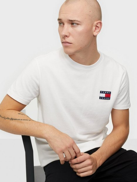 Tommy Jeans Tjm Tommy Badge Tee T-shirts & undertrøjer White