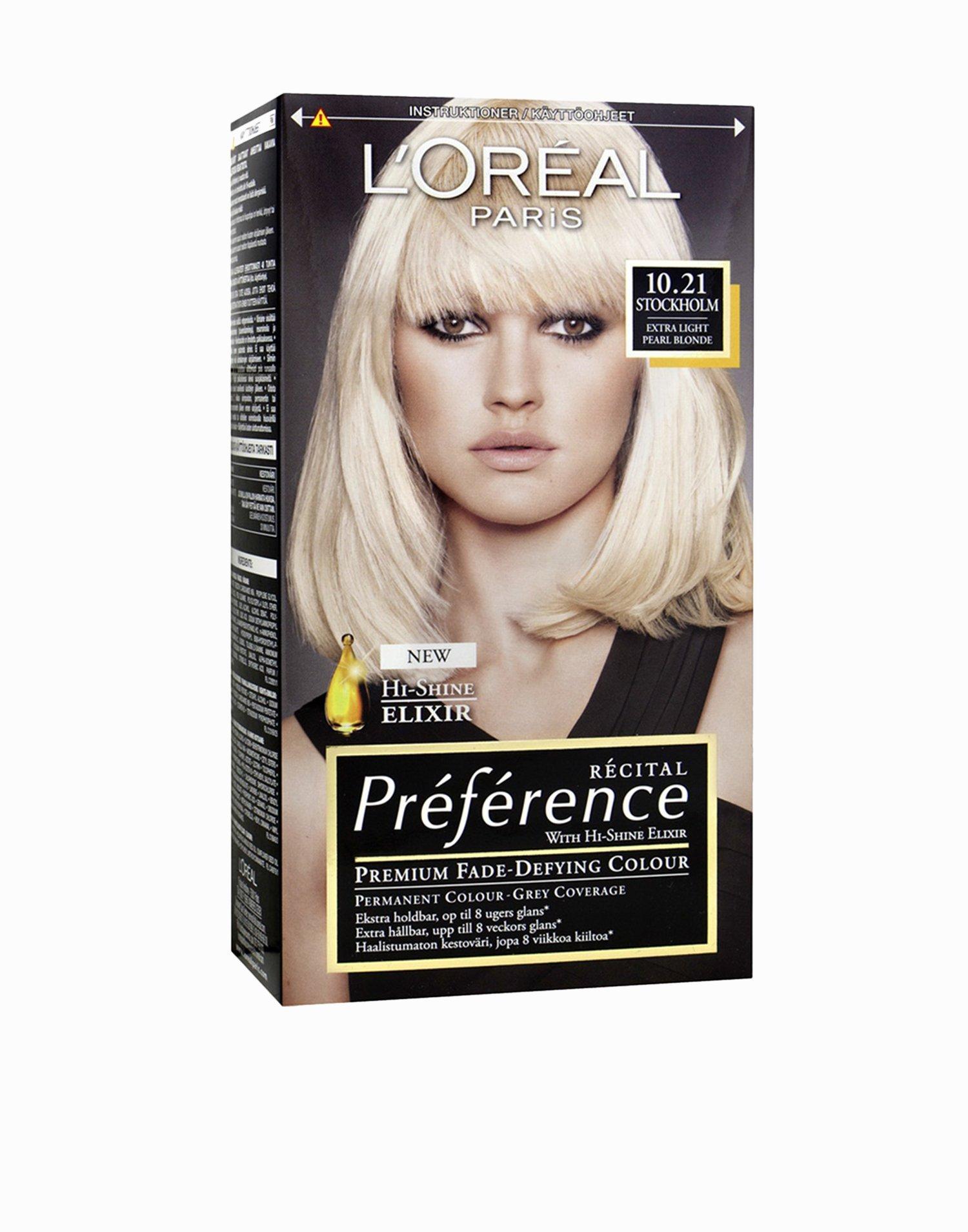 Haarfarbe loreal 10 21