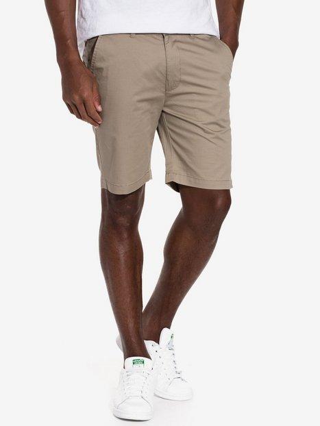 Dr Denim Wood Shorts Shorts Khaki - herre
