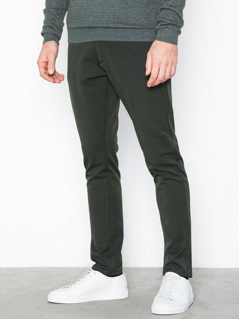 Tailored Originals Pants TOFrederic Bukser Dark Green mand køb billigt