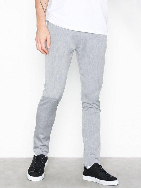 Tailored Originals Pants TOFrederic Bukser Light Grey Melange - herre