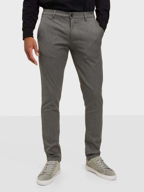 Tailored Originals Pants -TOFrederic Bukser Medium Grey Melange