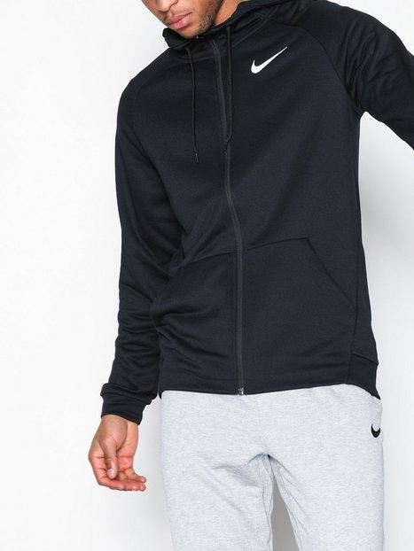 Nike M Nk Dry Hoodie Fz Fleece Træningstrøjer Black White - herre
