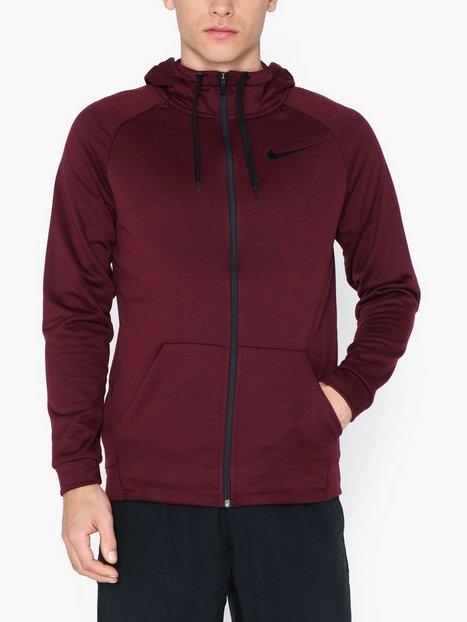 Nike M Nk Dry Hoodie Fz Fleece Træningstrøjer Maroon - herre