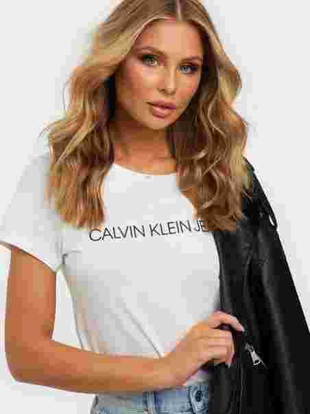 CORE INSTITUTIONAL LOGO SLIM FIT TEE, Calvin Klein Jeans