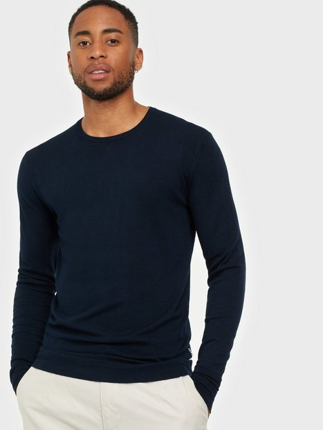 Tailored Originals Knit - Mont O neck Trøjer Insignia Blue